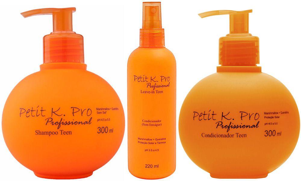Kit Petit, Shampoo, Condicionador e Leave-in - K.PRO