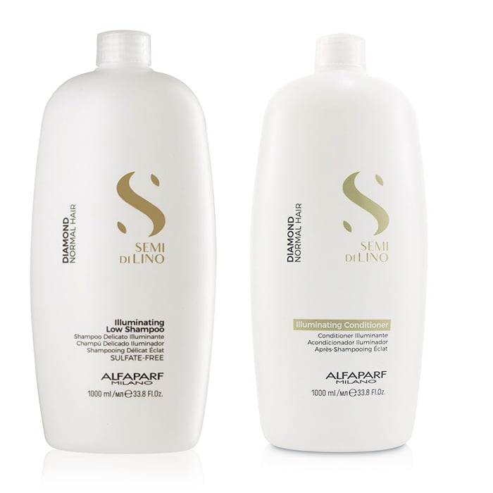 Kit Semi Di Lino Illuminating Shampoo, Condicionador 1000ml - Alfaparf