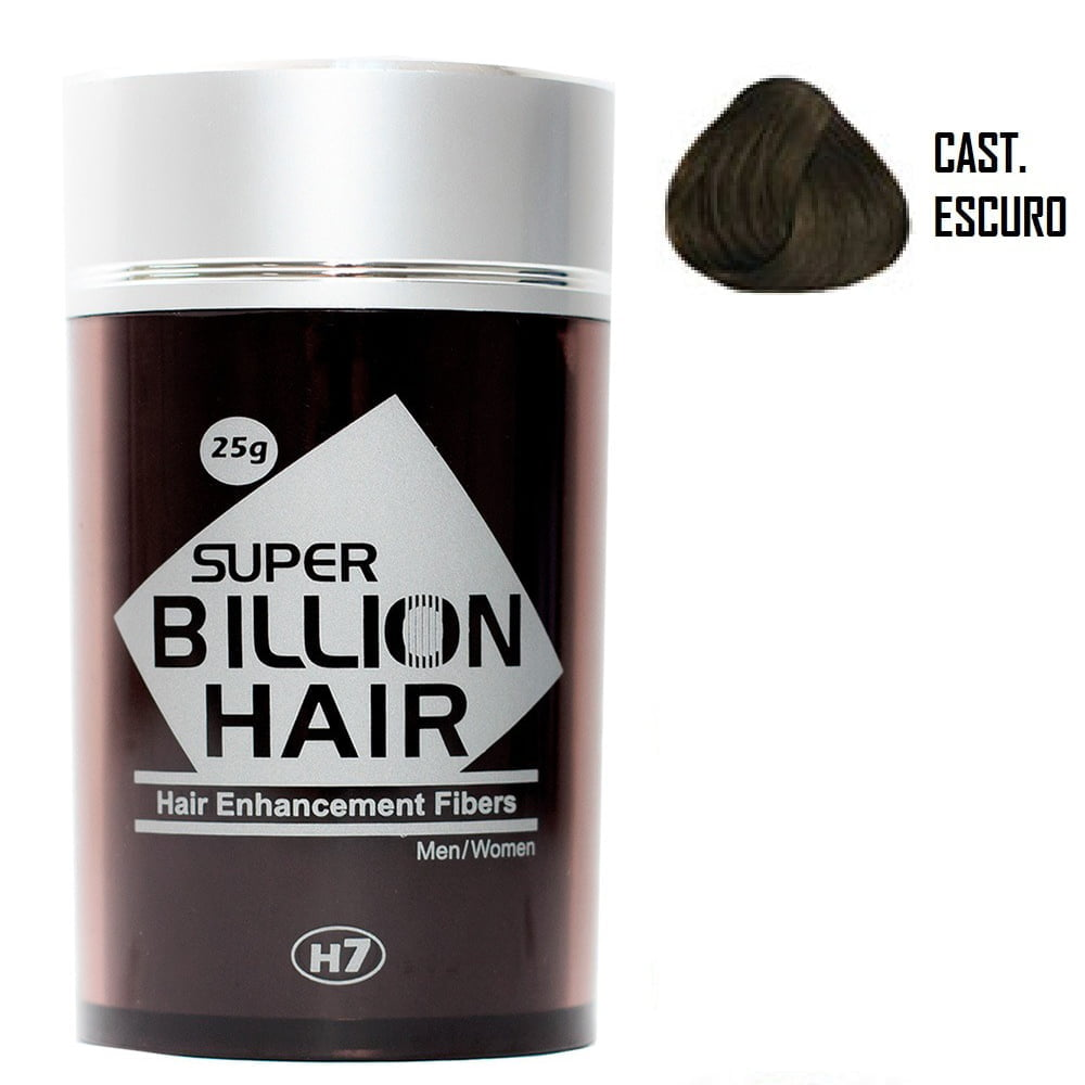 Super Billion Hair Fibers 25gr Castanho Escuro - Disfarce Para Calvice