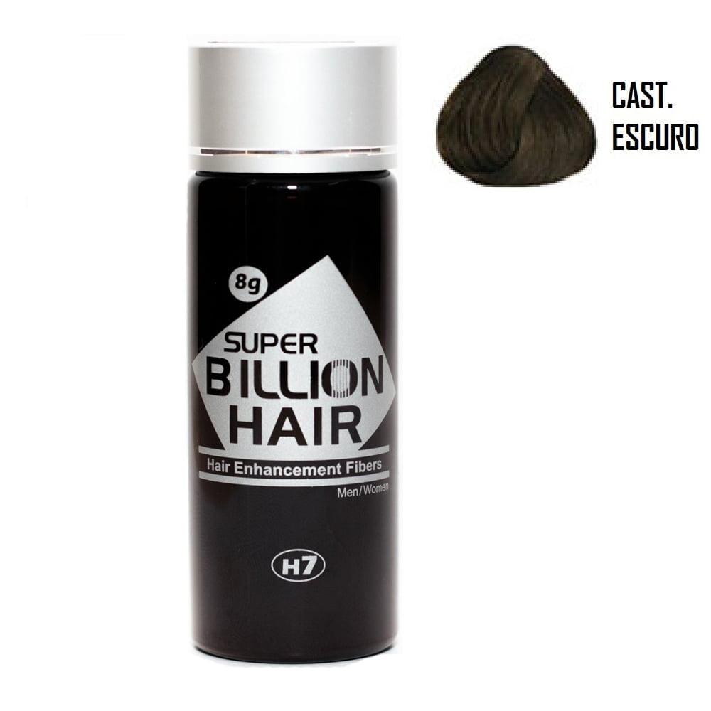 Super Billion Hair Fibers 8gr Castanho Escuro - Disfarce Para Calvice