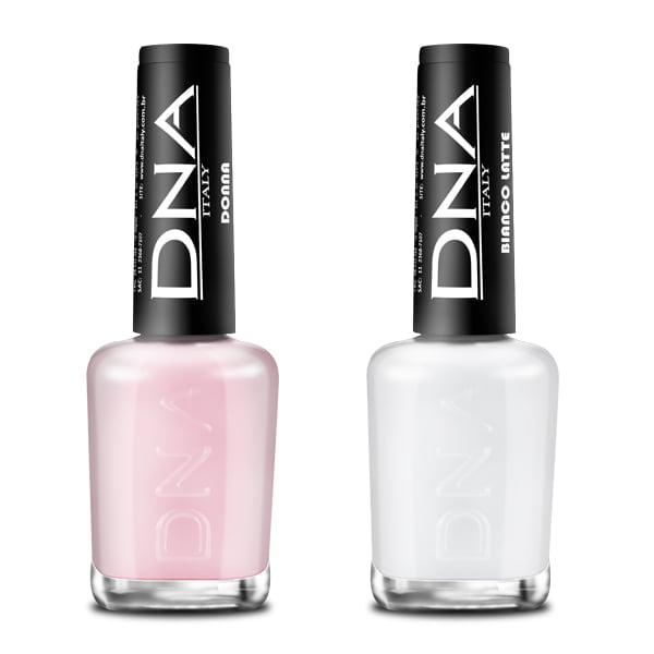 Coleção Transparente - 2 cores 10ml - Esmalte DNA - Italy