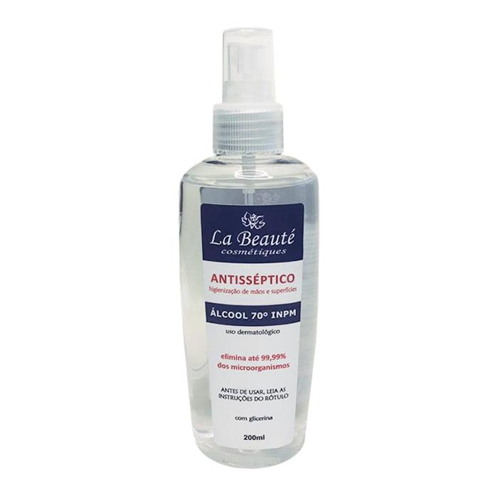 Álcool Antisséptico Spray 70º INPM 200ml - La Beauté