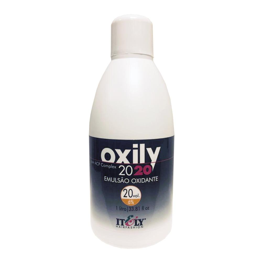 Itely Água Oxigenada OX 20vol. 1Litro - Emulsão Oxidante Creme