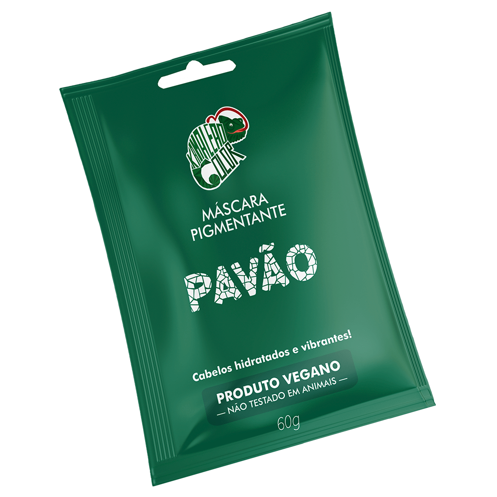 Máscara Pigmentante Pavão - Kamaleão Color 60ml - Verde