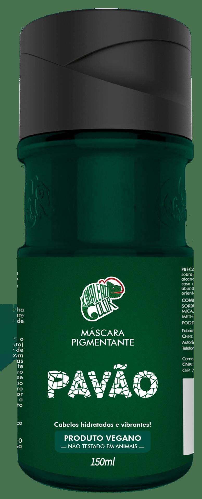 Máscara Pigmentante Pavão Kamaleão Color Verde