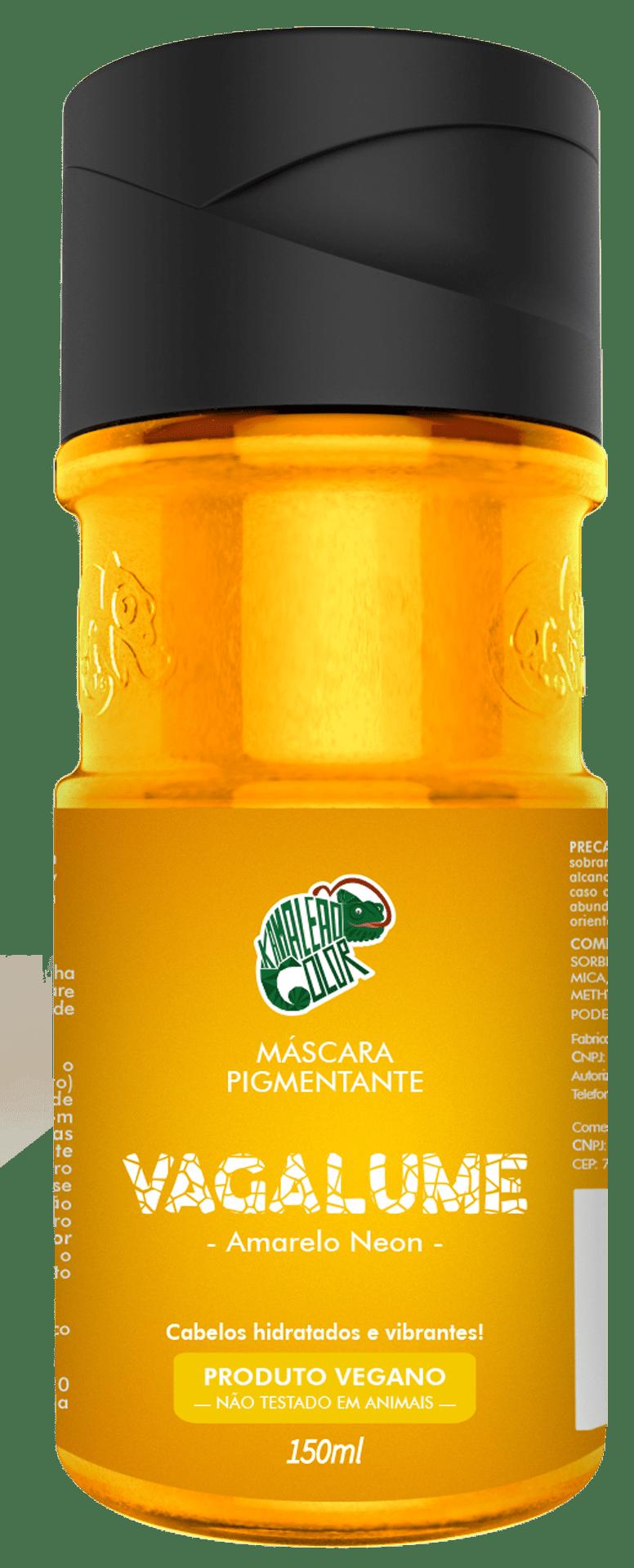 Máscara Pigmentante Vagalume - Kamaleão Color 150ml - Amarelo Neon