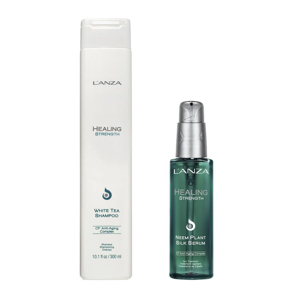 Healing Strength Kit Shampoo 300ml e Silk Serum 100ml L`anza