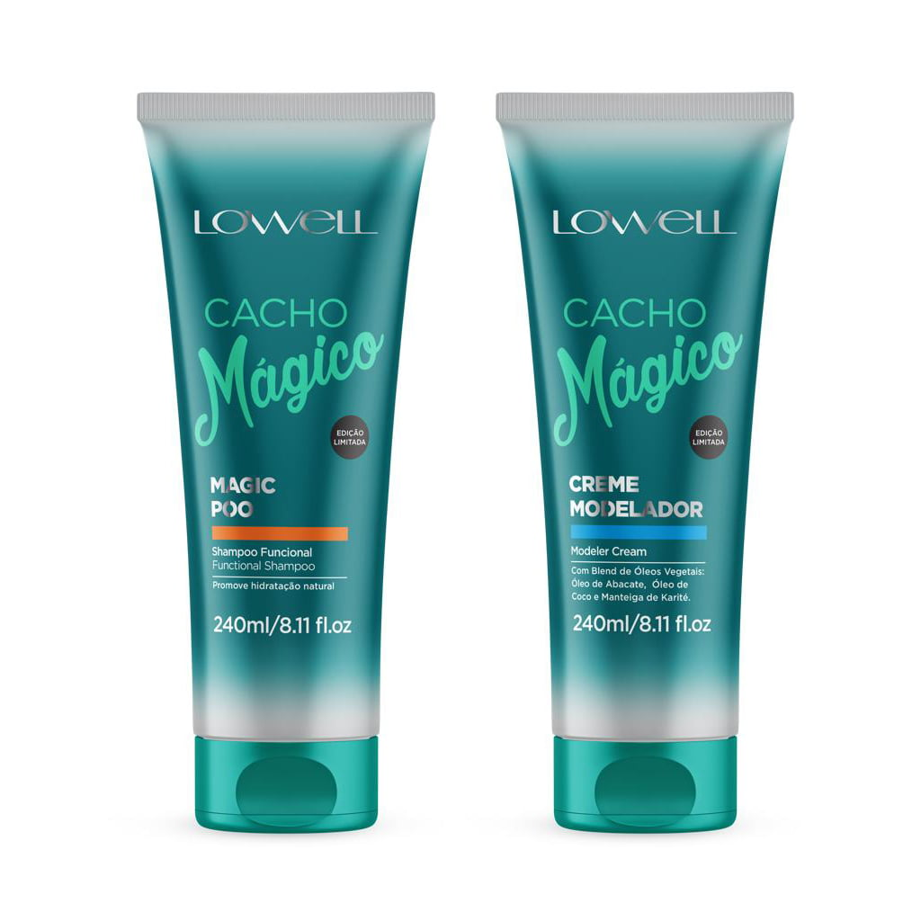 Cacho Mágico Kit Shampoo e Modelador de Cachos 240ml Lowell