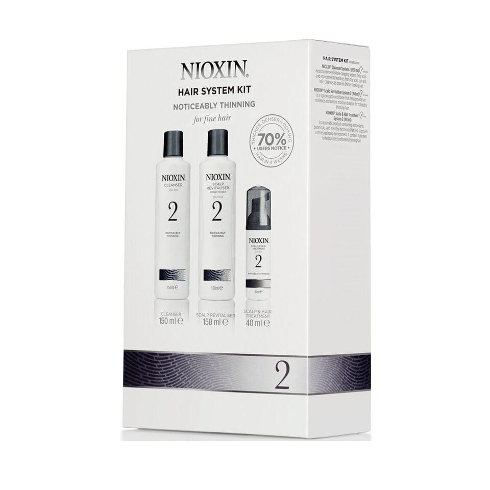 Nioxin System 2 Trial Hair - 3 produtos - Nioxin