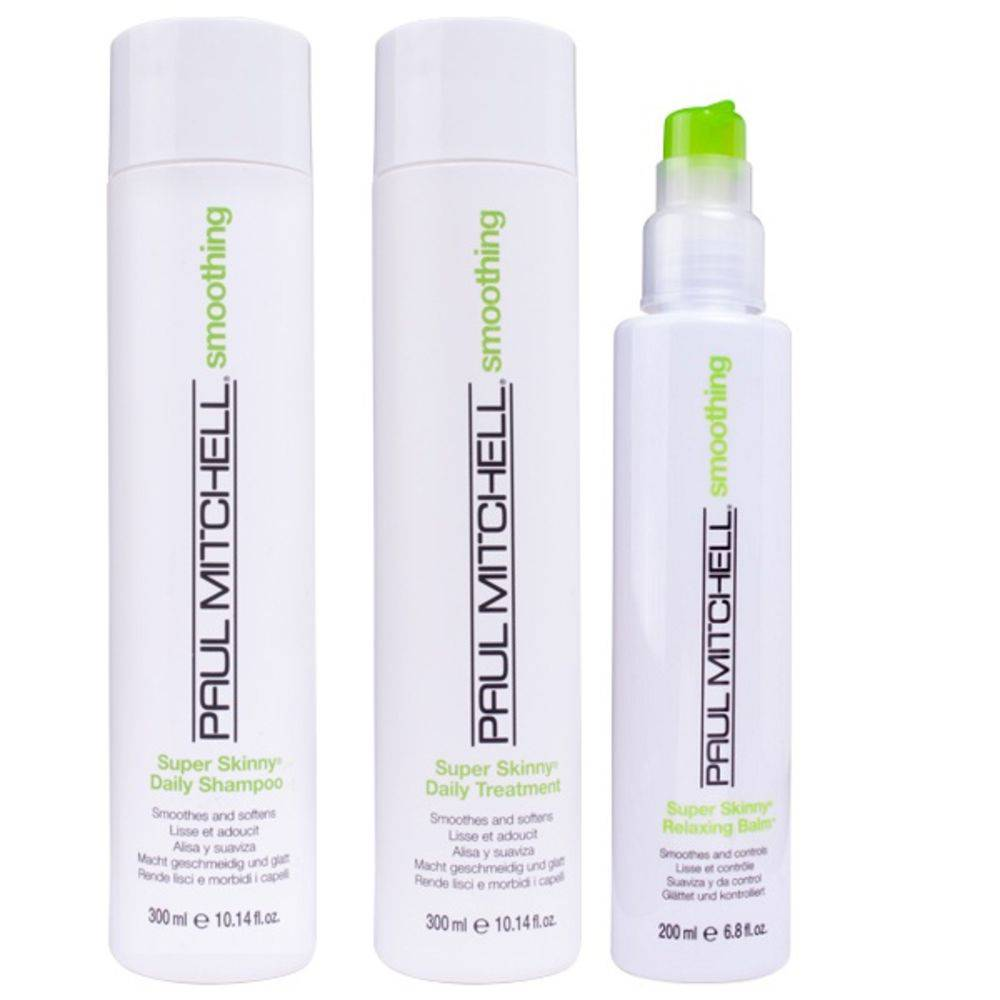 Smoothing Super Skinny Kit Shampoo, Tratamento e Balm - Paul Mitchell