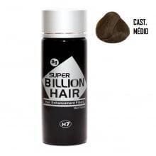 Super Billion Hair Fibers 8gr Castanho Médio  - Disfarce Para Calvice