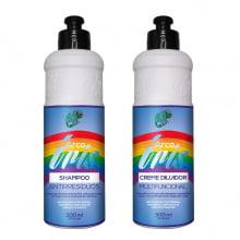 Arco Íris Kit Shampoo de Limpeza e Creme Diluidor 300ml - Kamaleão Color