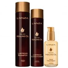 Keratin Healing Oil Shampoo, Condicionador e Tratamento - L`anza