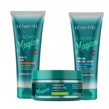 Cacho Mágico Shampoo, Modelador, Máscara Umectante - Lowell