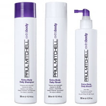 Extra-Body Kit Shampoo, Rinse e Boost - Paul Mitchell