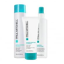 Moisture Shampoo, Condicionador de Tratamento e Leave-in - Paul Michell