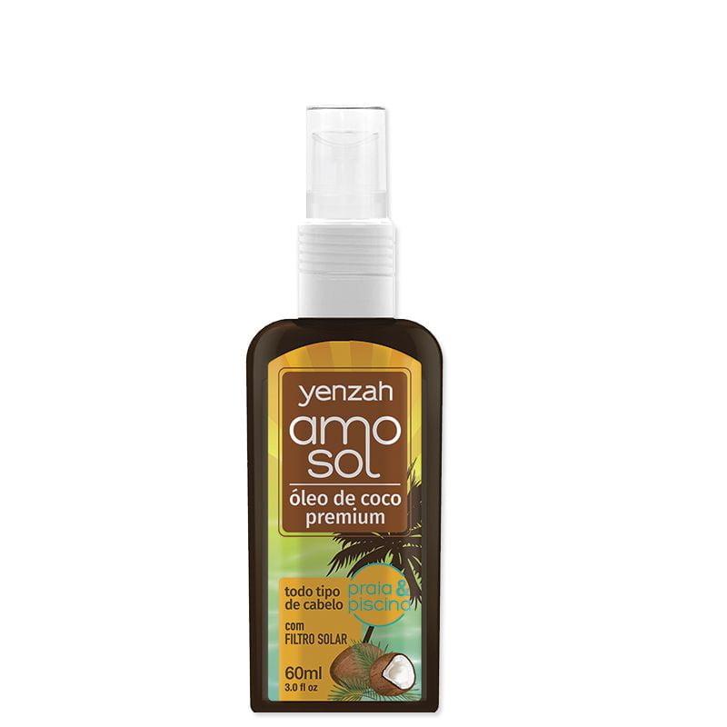 Amo o Sol Óleo de Coco Premium 60 ml - pH 4,5 - Yenzah